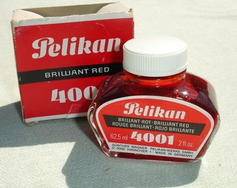 Brilliant Red Pelikan Ink - Vintage Ink for Calligraphy and Drawing