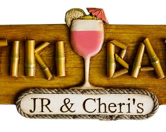 Personalized Tiki Bar Decor Sign