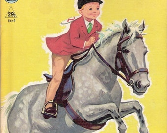 Little Horseman Vintage Rand McNally Tip Top Elf Book by Mabel Watts Illustrated by Dorothy Grider