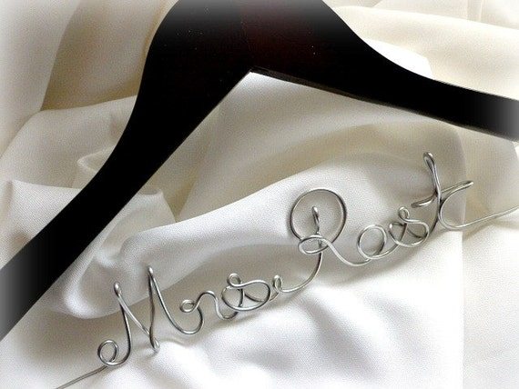 Wedding Dress Hanger, Personalized, Bridal Shower Gifts