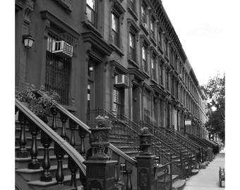 New York Harlem Brown Stones Photo Print