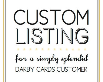 Deposit Fee for Darby Cards