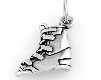 Sterling Silver Ski Boot Charm (Hollow Back)