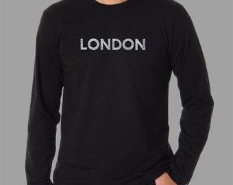 Men's Long Sleeve T-shirt - Created using some of London's most popular neighborhoods