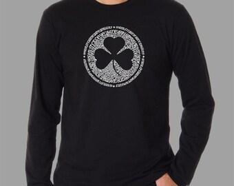 Men's Long Sleeve T-shirt - Created using the Lyrics To When Irish Eyes Are Smiling