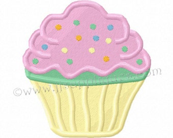 Instant Download - Cupcake Embroidery Designs Birthday Embroidery Designs - Cupcake Fill Embroidery for a 4x4 hoop