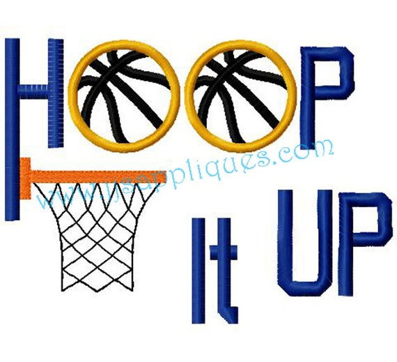 Sports designs basketball embroidery applique design hoop