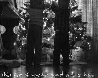 Sugarplums Danced in their Heads~ Digital Christmas Card ~ Print Your Own