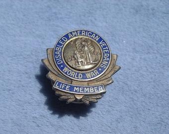 Vintage 1920s World War I Disabled American Veterans Pin