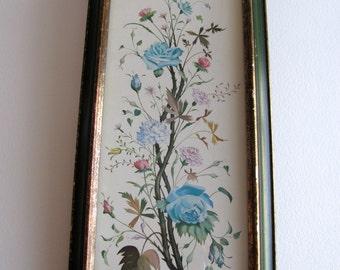 Vintage floral print, cottage shabby