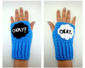 Okay Okay TFIOS Geeky Gauntlets. Super Fandom Series. John Green Wristwarmers. Hazel Augustus Fingerless Gloves. Fault in Our Stars Gloves.