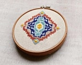 Geometric embroidery piece 1 cross stitch pattern pdf
