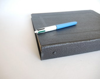 Vintage Bookkeeping Ledger Journal with monthly 3 ring binder folders