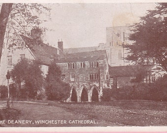 "Ca. 1920s ""The Deanery"" at Winchester Cathedral Topographical Picture Post Card - 312"