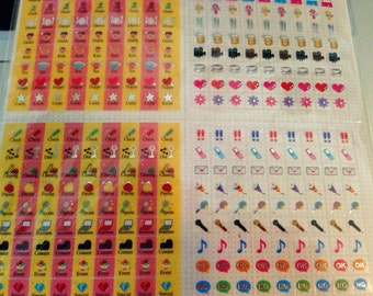 Filofax sticker, planners sticker, tiny colorful clear see through sticker D3