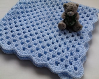 Crochet Baby Blanket, Afghan, Nursery Bedding Christening, Baptism deken, colcha ,coperta, Babydecke, manta, couverture
