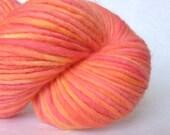 "Variegated yarn, handpainted wool chunky in ""Sunflower Star"""