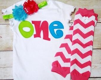 1st Birthday Outfit / Girls ONE Birthday Shirt / Cake Smash Outfit / First Birthday Outfit / Easter Outfit Girl / Sibling Shirts /Smash Cake