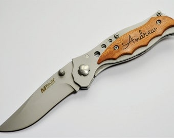 Personalized Knife, Engraved Knives, Father, Gift for Him, Best Man, Groomsman, Groomsmen, Christmas, Birthday, Hunting knife, Style#33
