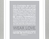 Baptism Gift - Colossians 3: 12-14 - Wear Love ( Gray )