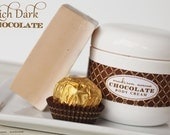 Handmade Chocolate Truffle  Body Cream All Natural Whipped Shea butter and Aloe Hand and Body Cream
