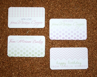 Set of 20 / Custom Calling Cards / Business Card Size / For Family or Child /  Stars / Patterns