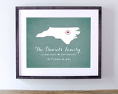Printable Personalized Chalkboard Sign - North Carolina or Your Choice of State