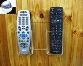TWO TV Cable or Satellite Decoder Receiver Remote Controls Wall Holder Stand Display.