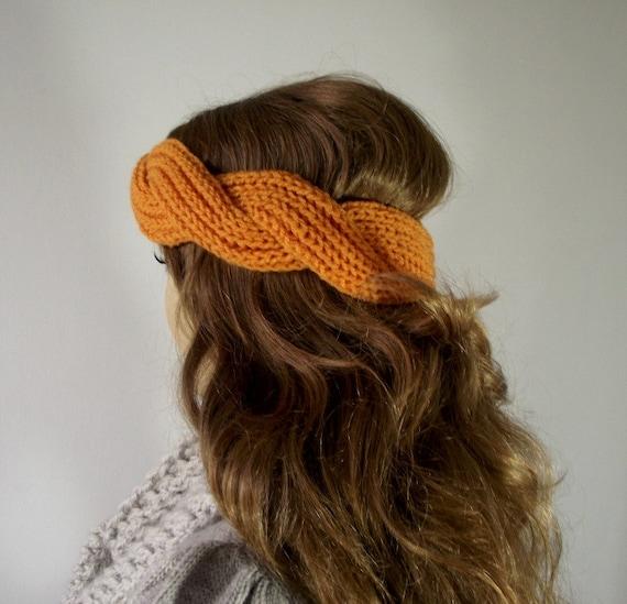 Twist Headband Knitting Pattern : KNITTING PATTERN HEADBAND twisted - Regina Headband - Ear warmer Knit Pattern...