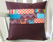 Pillow Cover, Dino Dudes Patchwork Pillow Cover