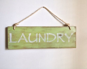 LAUNDRY sign - laundry room decor made from reclaimed wood