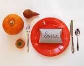 gift boxes, packaging for autumn, fall packaging, thanksgiving table setting, name place setting, recycled favor boxes, eco packaging