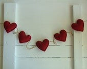 Red Heart Valentine Garland