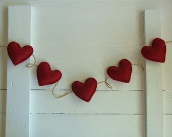 Listing for Erin - Red Heart Valentine Garland