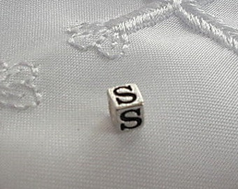 Extra Sterling Silver Alphabet Block Letter Bead