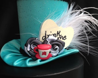 Alice in Wonderland Inspired Mini Top Hat for Dress Up, Birthday, Tea Party or Photo Prop