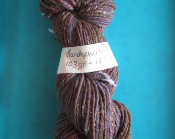 Hand spun BFL yarn in earth tones - sport weight/dk
