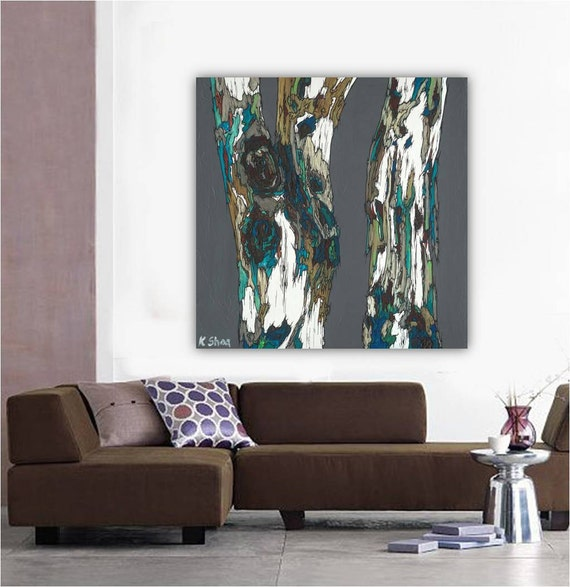 Extra large wall art canvas print artwork tree by shoagallery for Big wall decor