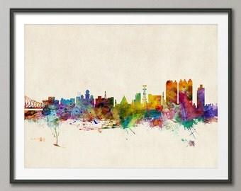 Calcutta (Kolkata) India Skyline, Art Print (739)
