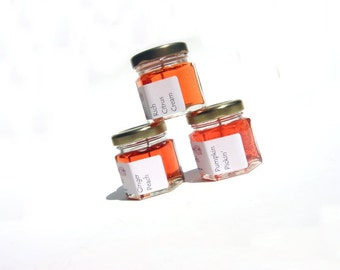 Autumn Candles, You Pick Scents, Mini scented Gel Candles, Autumn Favors, Orange Minimalist Halloween Fall Decorations
