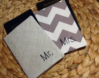 Destination Wedding Gift For Bride And Groom : Wedding Passport Covers for Bride and Groom - Mr. And Mrs. - His and ...