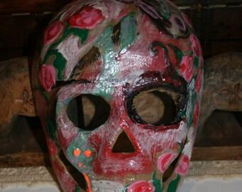 Day Of The Dead Sugar Skull Mask Art