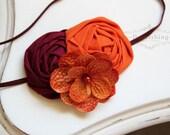 Game Day- Virginia Tech Hokies headband, Maroon and Orange headbands, Virginia Tech headbands, newborn headband, game day headband