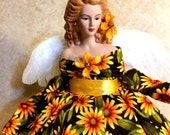 ANGEL DOLL Inspirational Porcelain OOAK Gift Angel Daisies
