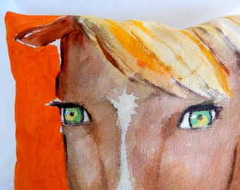 Horse Pillow by sooziedoozie