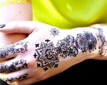 Instant Henna Temporary Tattoos
