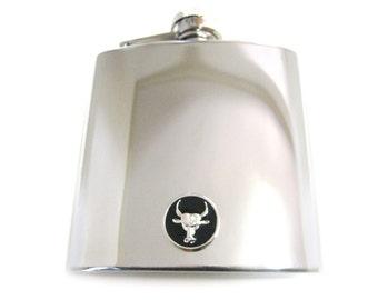 Bull 6 oz. Stainless Steel Flask