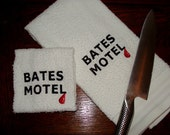Bates Motel Hand Towel and Washcloth Set - Machine Embroidered