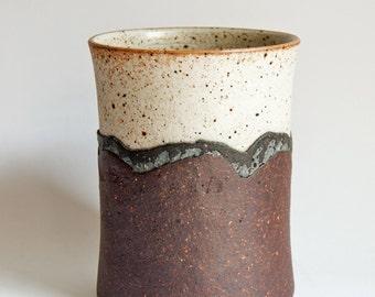 Danish Art Studio Pottery , Richard Manz, Cylindrical Vase