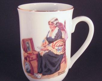 Norman Rockwell, Vintage, Collectible Mug, Memories, Museum Memorabilia, American Painter, Mug Collection, Ceramic